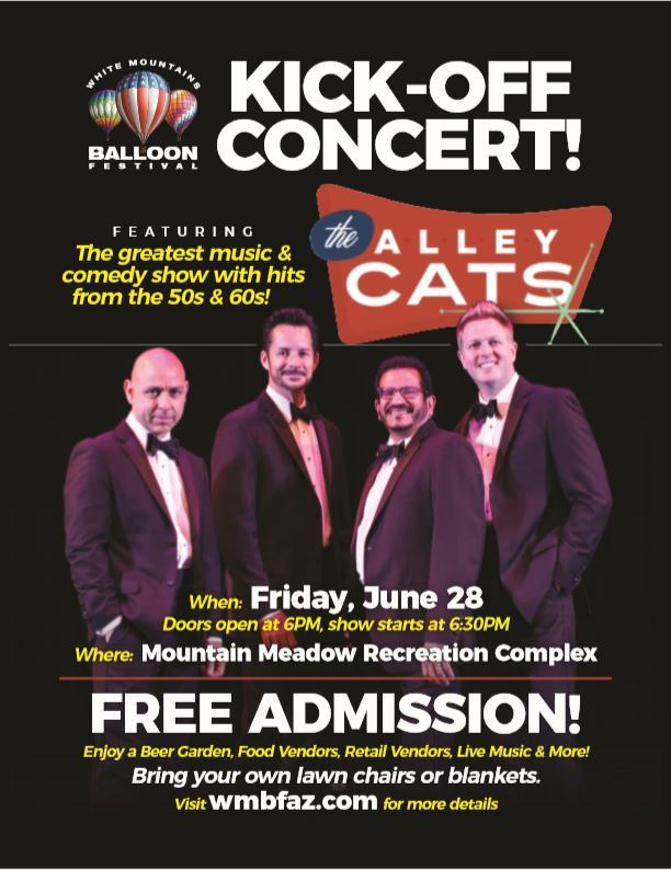 2019 White Mountains Balloon Festival Kick-Off Concert, The Alley Cats