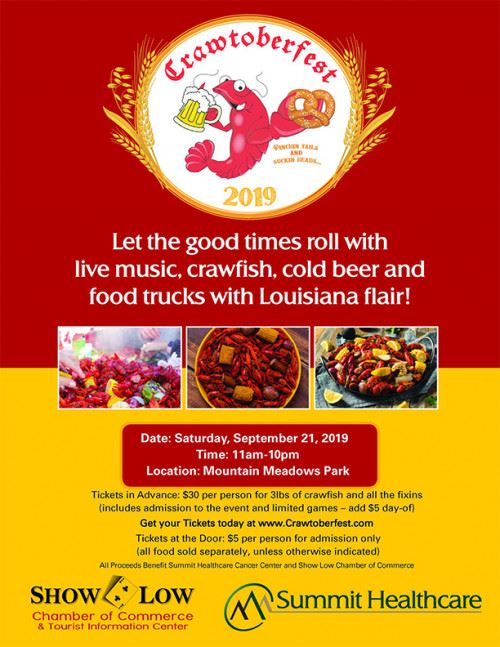2019 Crawtoberfest, Live Music, Crawfish, Cold Beer, and Food Trucks with a Louisiana Flair