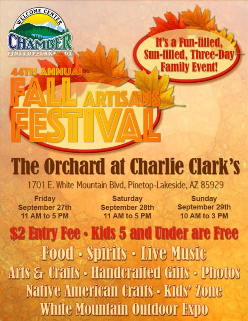 44th Annual Fall Artisans Festival at The Orchard at Charlie Clark's