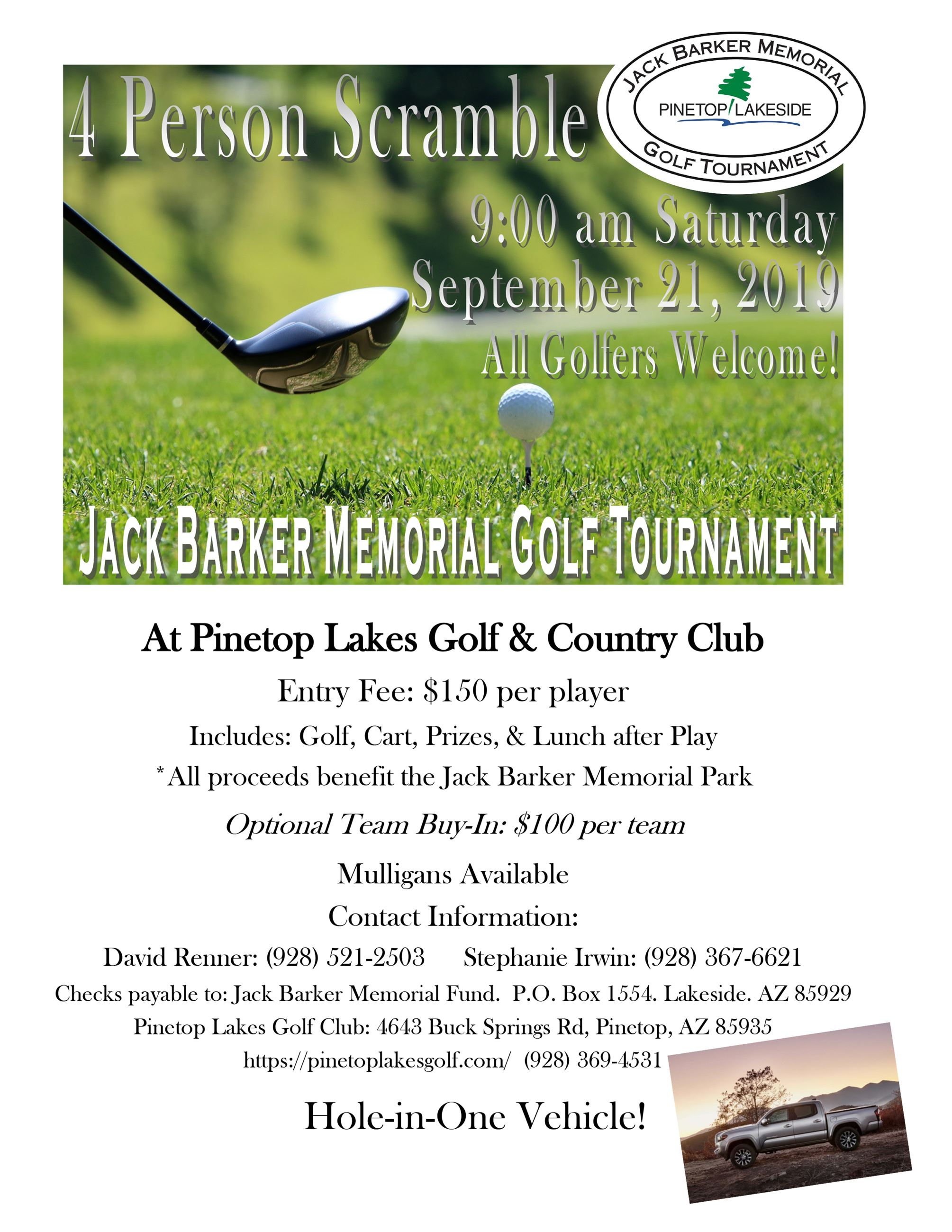 Jack Barker Memorial Golf Tournament 2019
