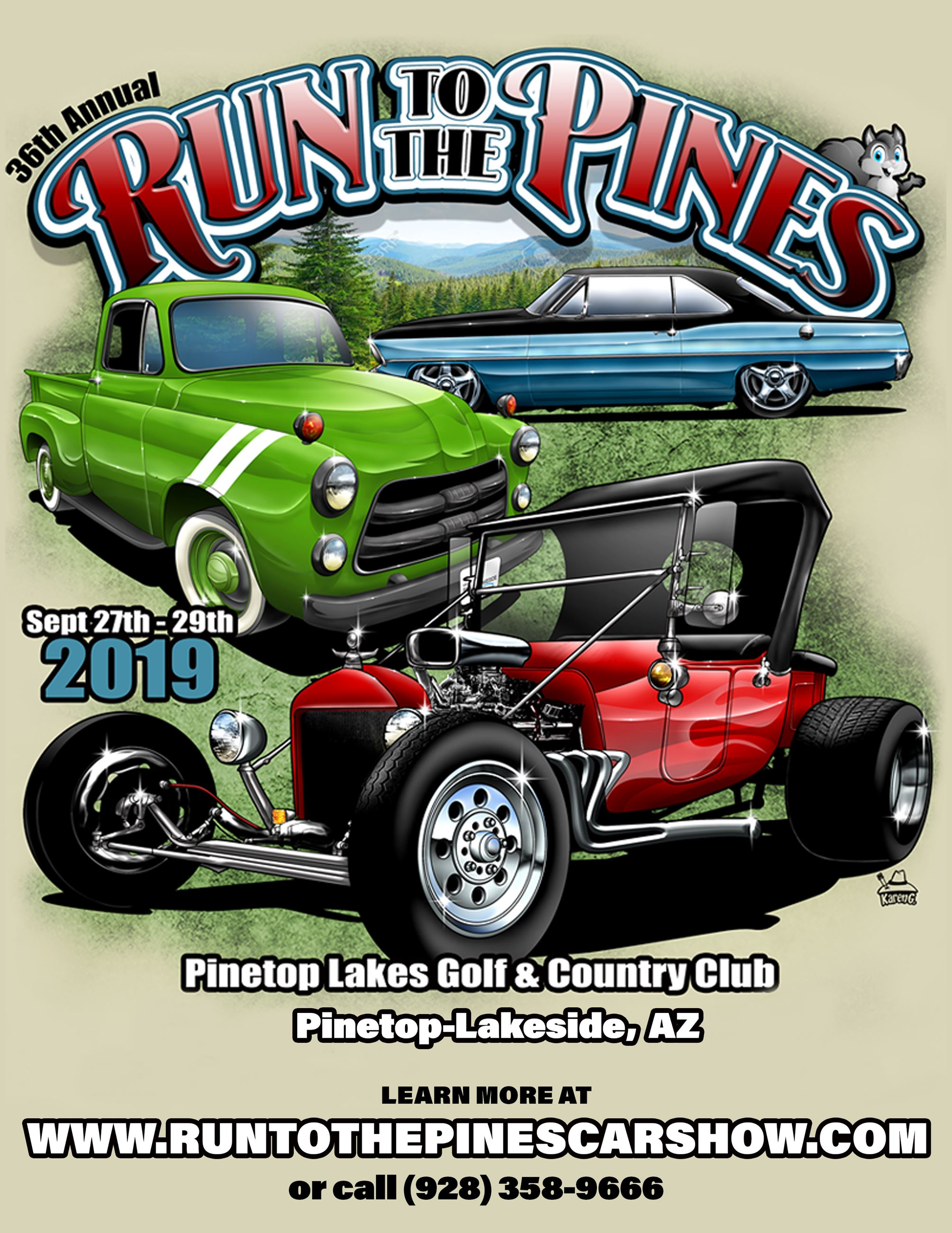 Run to the Pines Car Show 2019