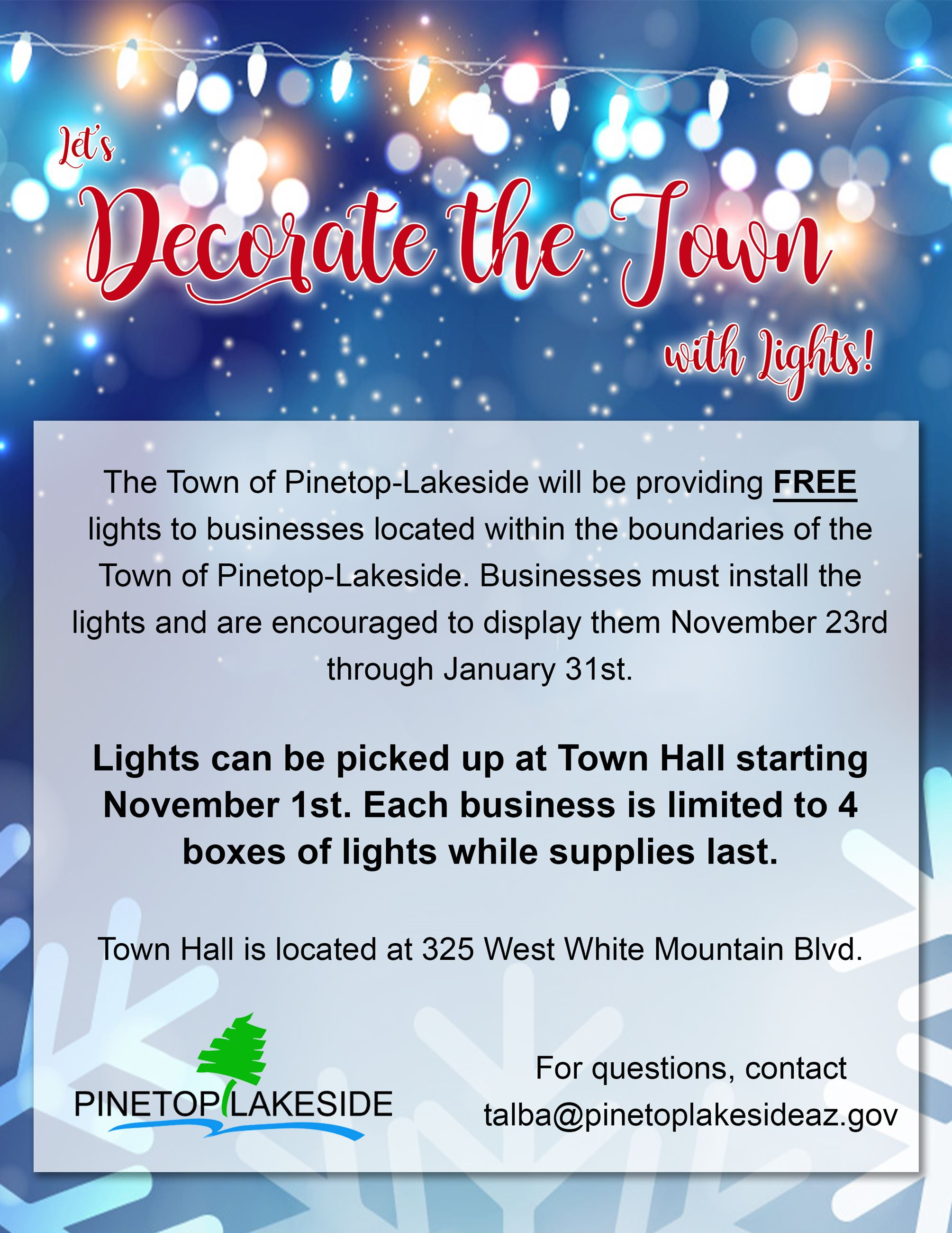 PL Free Christmas Lights