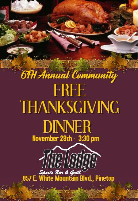 The Lodge Bar & Grill Thanksgiving Dinner