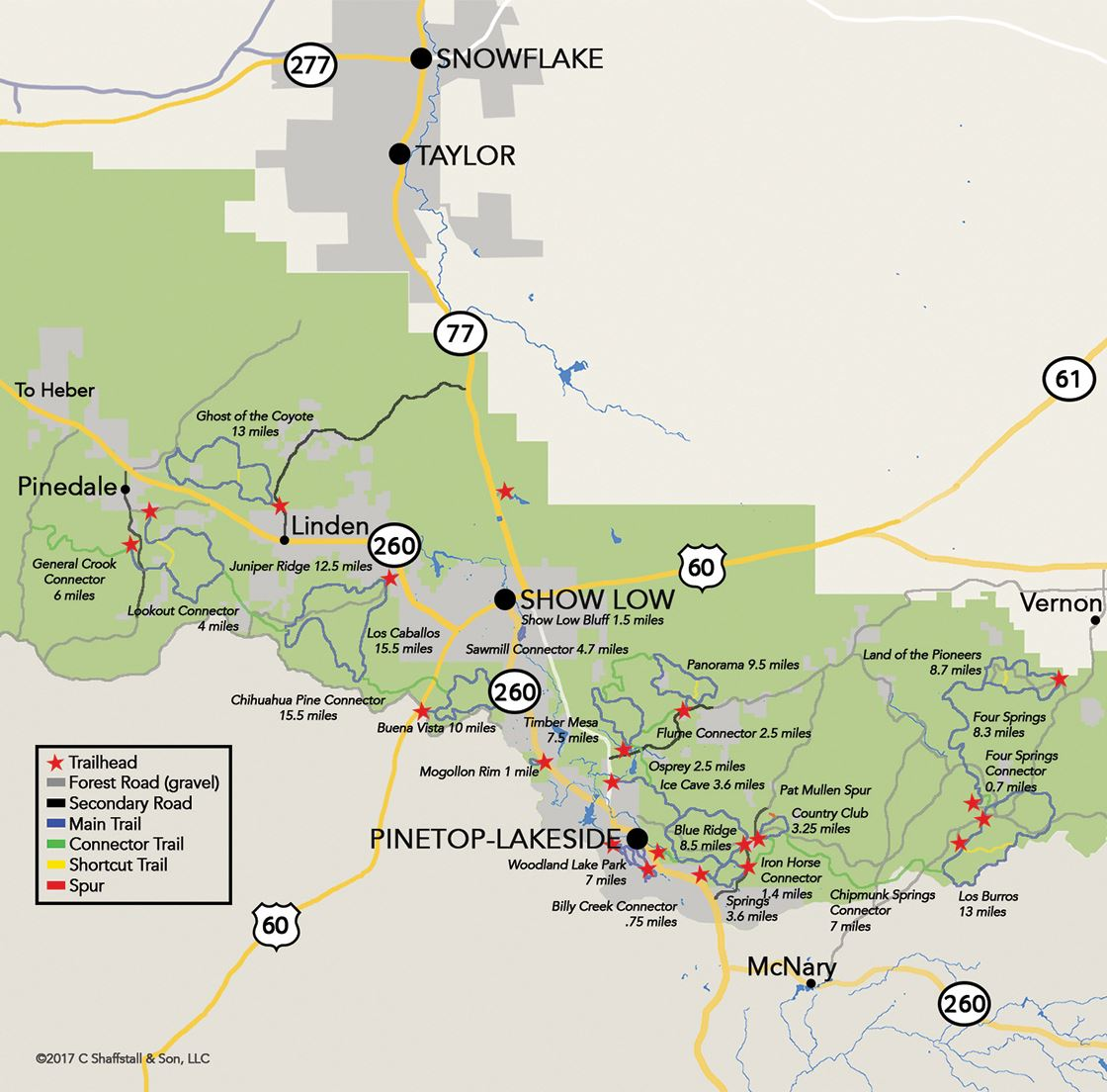 White Mountain Trail System Map