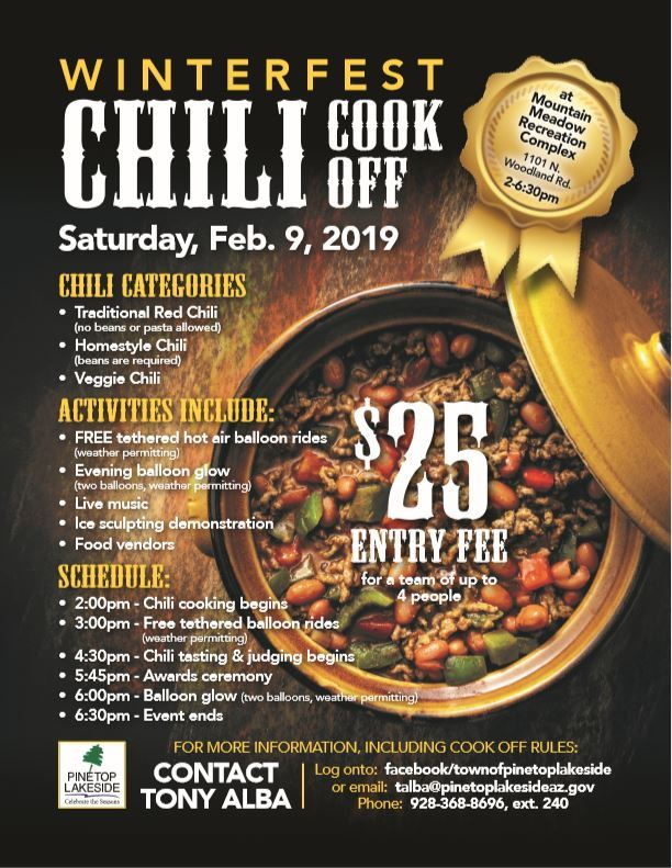 Chili Cook Off Flyer Opens in new window